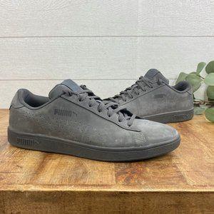 Puma Mens 12 Smash 2 Sneakers All Gray Asphalt